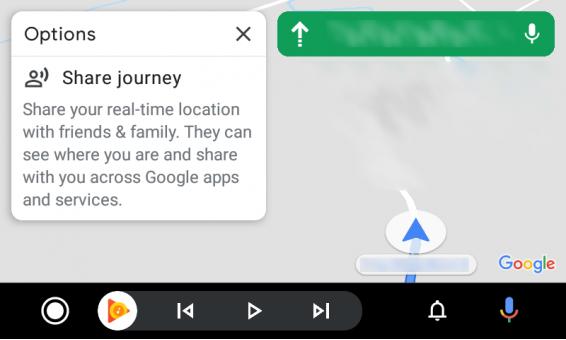 aplikacja Mapy Google Maps dla Android Auto nowe ikonki Material nawigacja