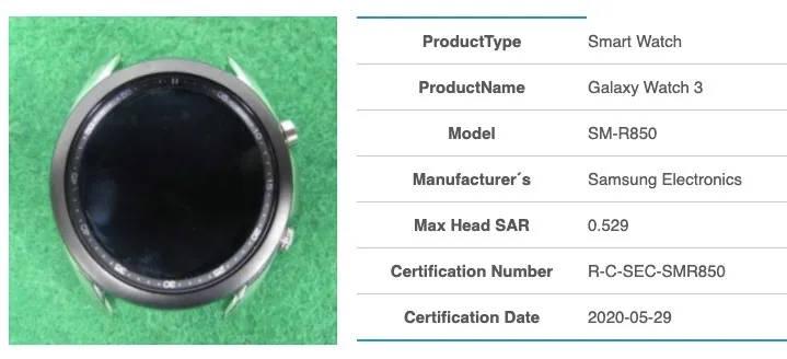 smartwatche Samsung Galaxy Watch 3 zdjecia plotki przecieki wycieki kiedy premiera