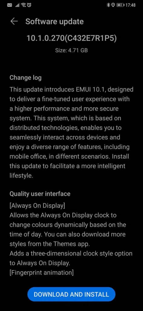 aktualizacja EMUI 10.1 Stable dla Huawei Mate 20 Pro opinie czy warto instalować nowości co nowego