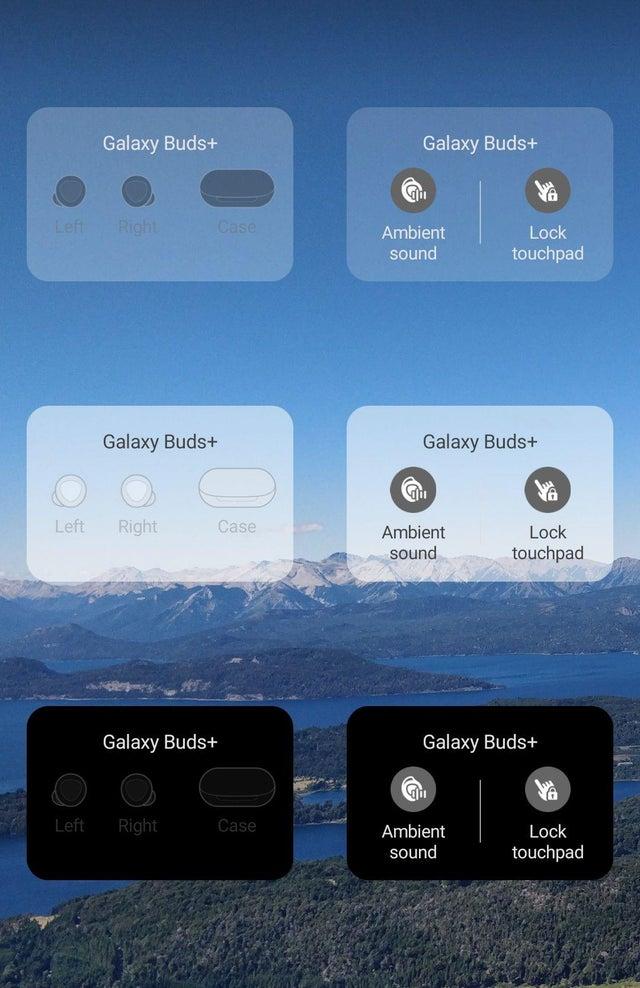 Samsung Galaxy Buds Plus widżet plugin słuchawki bezprzewodowe