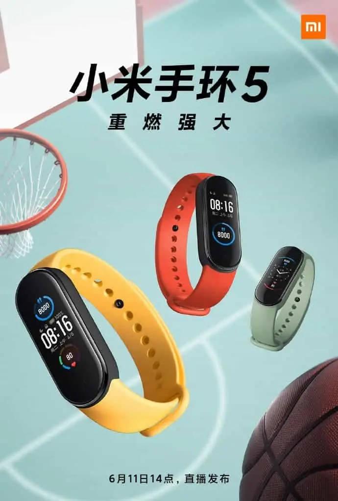 opaska Xiaomi Mi Band 5 cena NFC cena nowości funkcje co nowego plotki przecieki wycieki