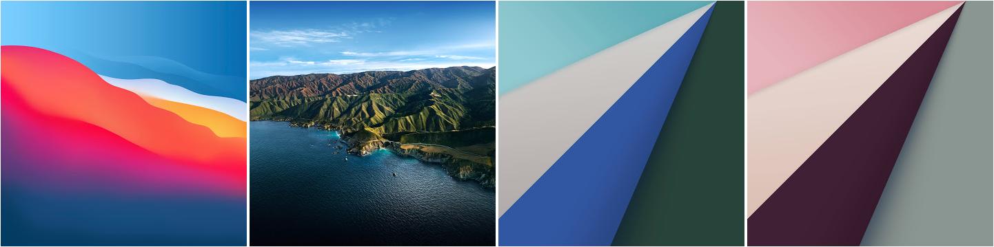 iOS 14 macOS 11 Big Sur oficjalne nowe tapety tła Apple