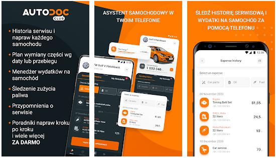 Aplikacja książka samochodowa AUTODOC CLUB