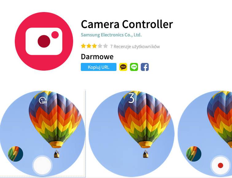 aplikacja Camera Controller dla Galaxy Watch Samsung Galaxy S9 Note 9
