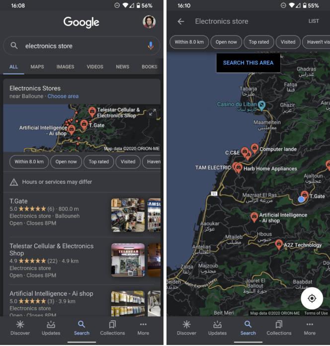 Mapy Google Maps dark mode ciemny motyw obejście