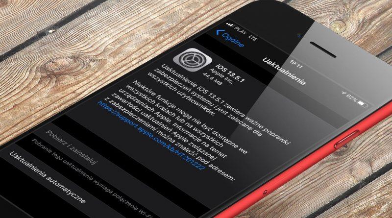 aktualizacja iOS 13.5.1 iPadOS 13.5.1 co nowego nowości wykaz zmian czy warto instalować opinie