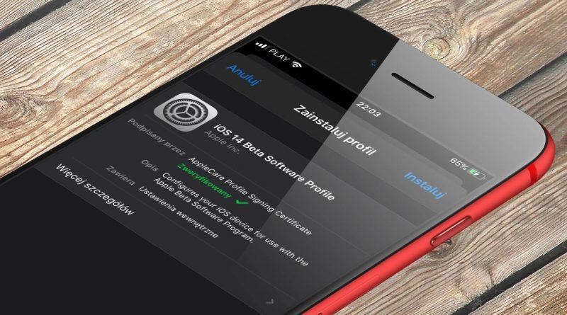aktualizacja iOS 14 beta 1 jak zainstalować profil na iPhone Apple już teraz