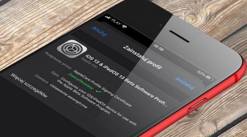iOS 14 beta 1 profil jak zainstalować nowy system Apple dla iPhone iPadOS 14