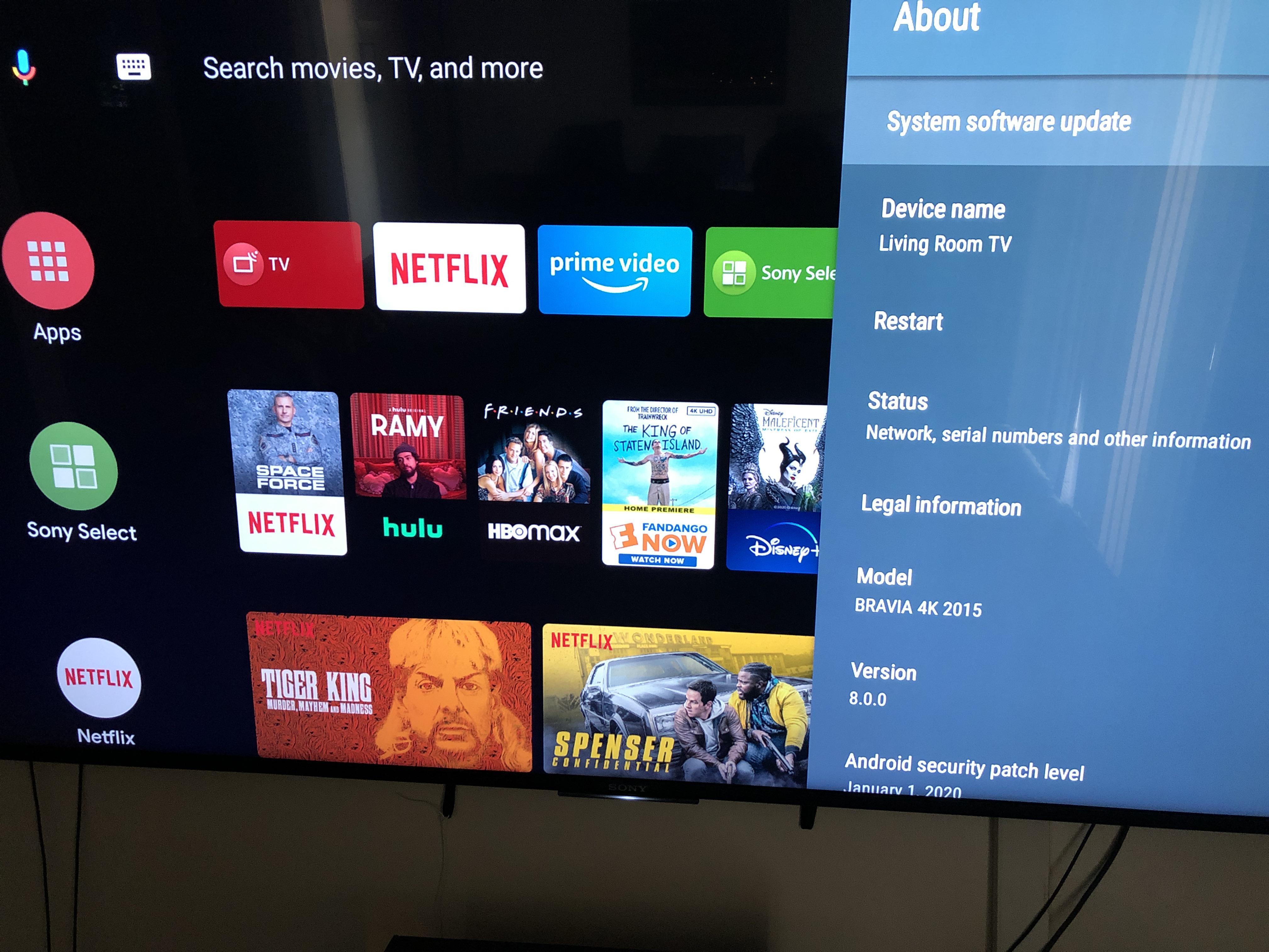 aktualizacja Android TV Oreo na telewizory Sony Bravia 4K 2015
