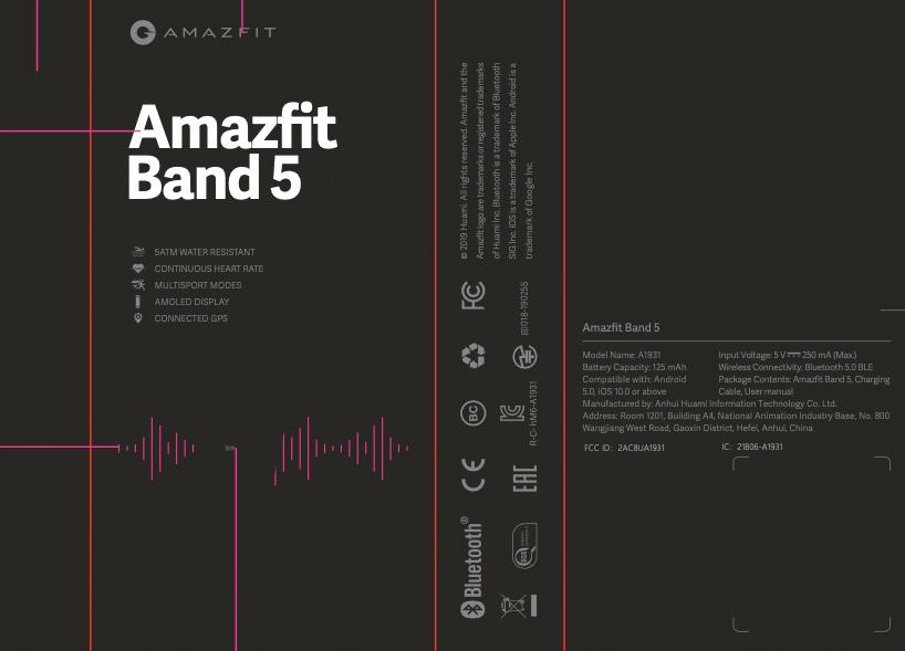 opaska Amazfit Band 5 Xiaomi Mi Band 5 plotki przecieki kiedy premiera specyfikacja dane techniczne