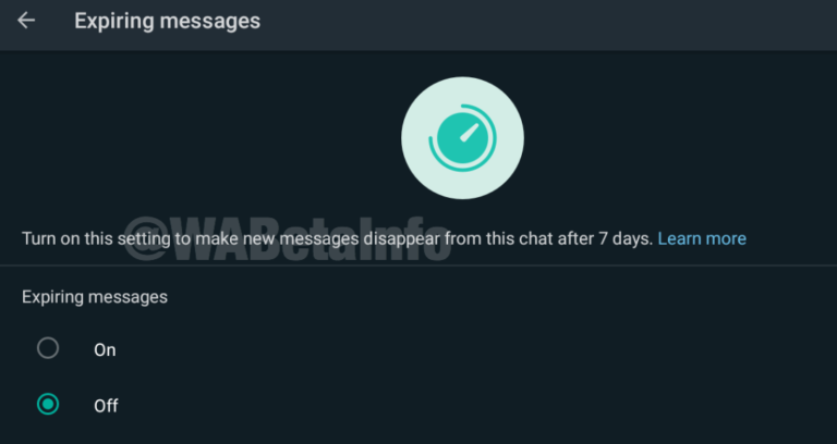 WhatsApp beta Android znikające wiadomości