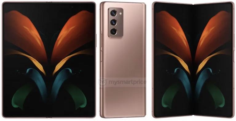 Samsung Galaxy Z Fold 2 5G rendery zdjęcia specyfikacja dane techniczne