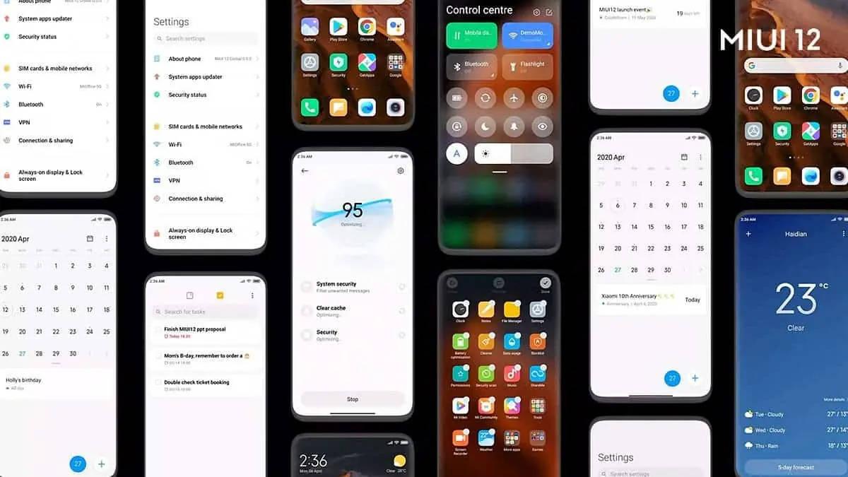 MIUI 12 aktualizacja dla Xiaomi Mi 9 SE Redni 10X Mi Note 10 Mi CC9 Pro kiedy