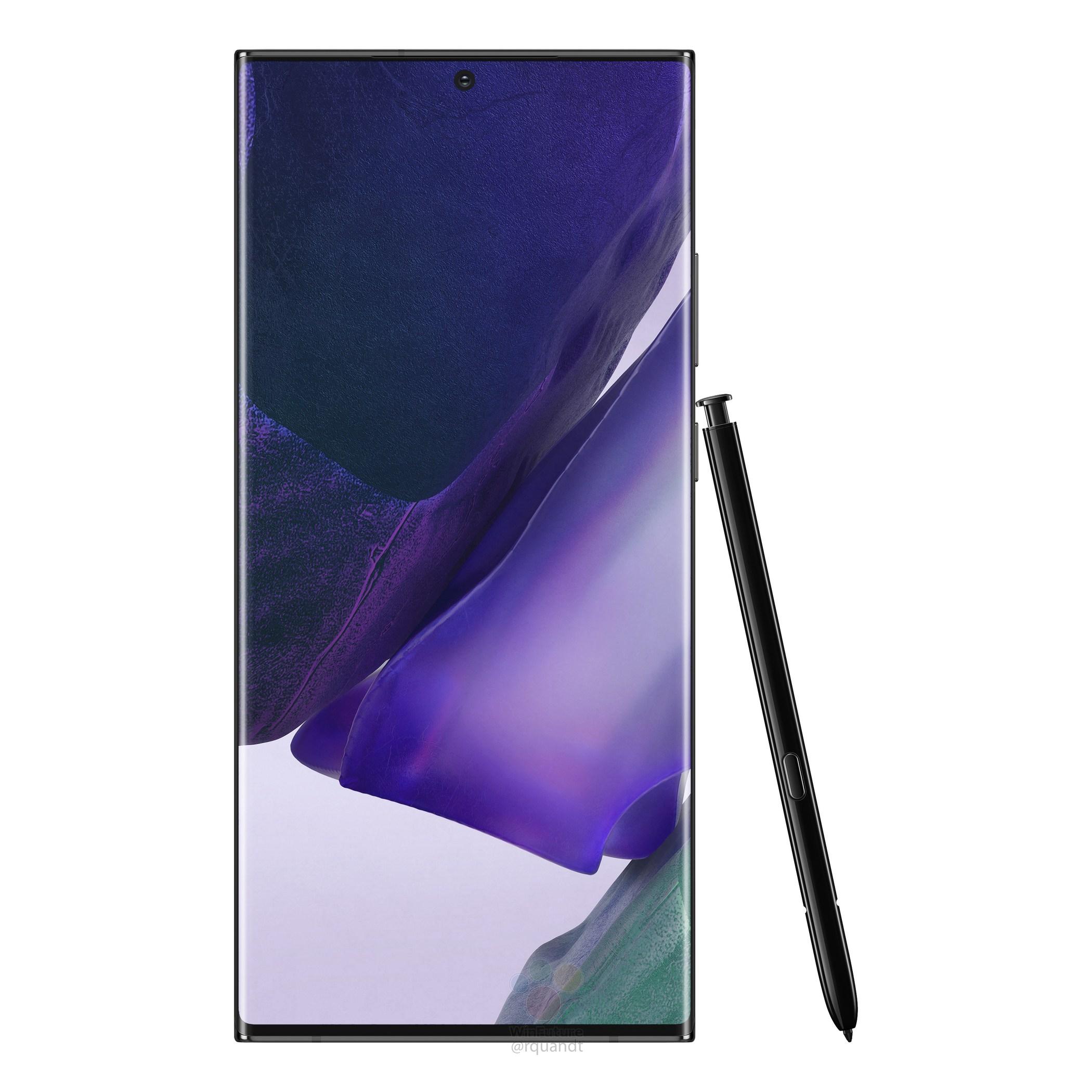 Samsung Galaxy Note 20 Ultra 5G rendery specyfikacja dane techniczne przecieki plotki wycieki rendery