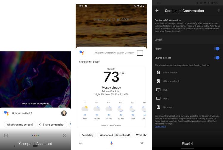 Nowy Asystent Google pasek z Pixel 4