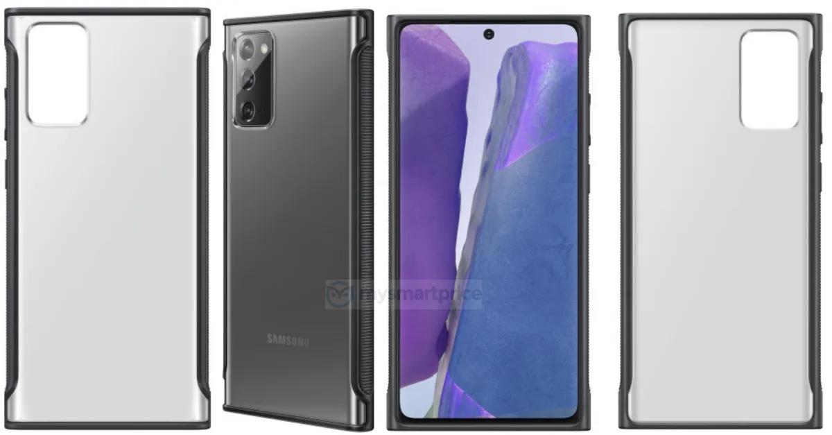 Samaung Galaxy Note 20 Clear Cover przecieki rendery plotki