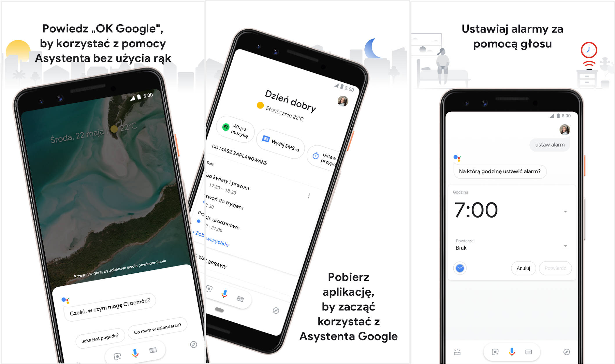 Asystent Google aplikacja w Sklep Google Play 100 mln