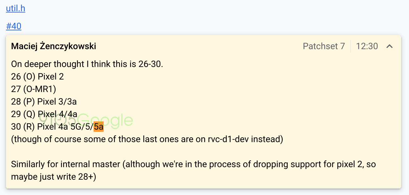 Google Pixel 5a Pixel 4a plotki przecieki wycieki AOSP kiedy premiera
