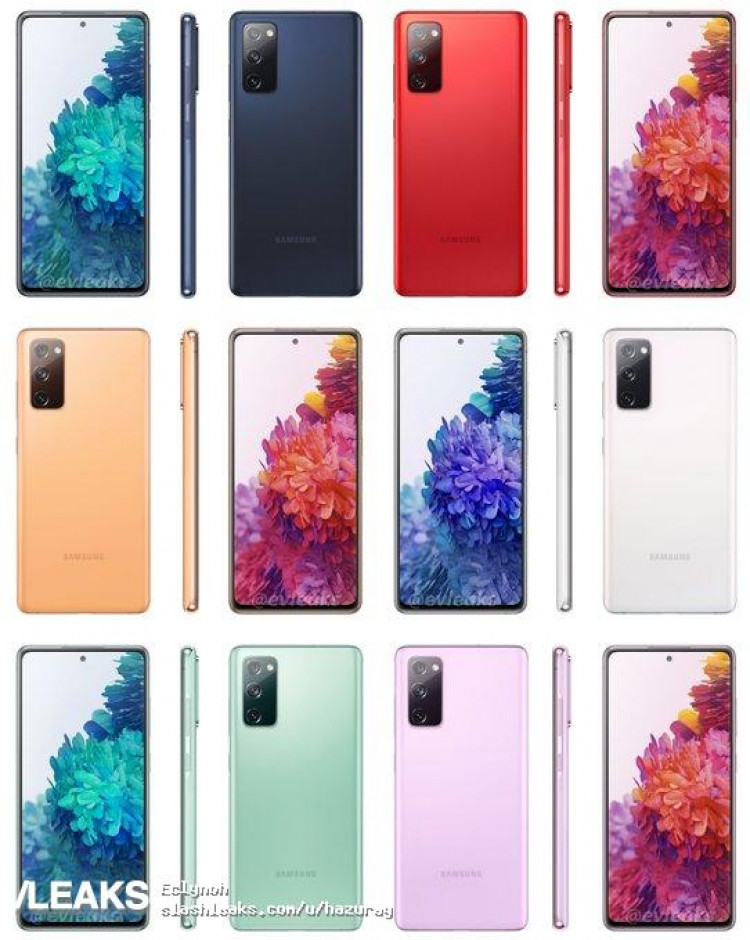 Samsung Galaxy S20 FE rendery cena kiedy premier aplotki przecieki wycieki kolory obudowy specyfikacja dane techniczne