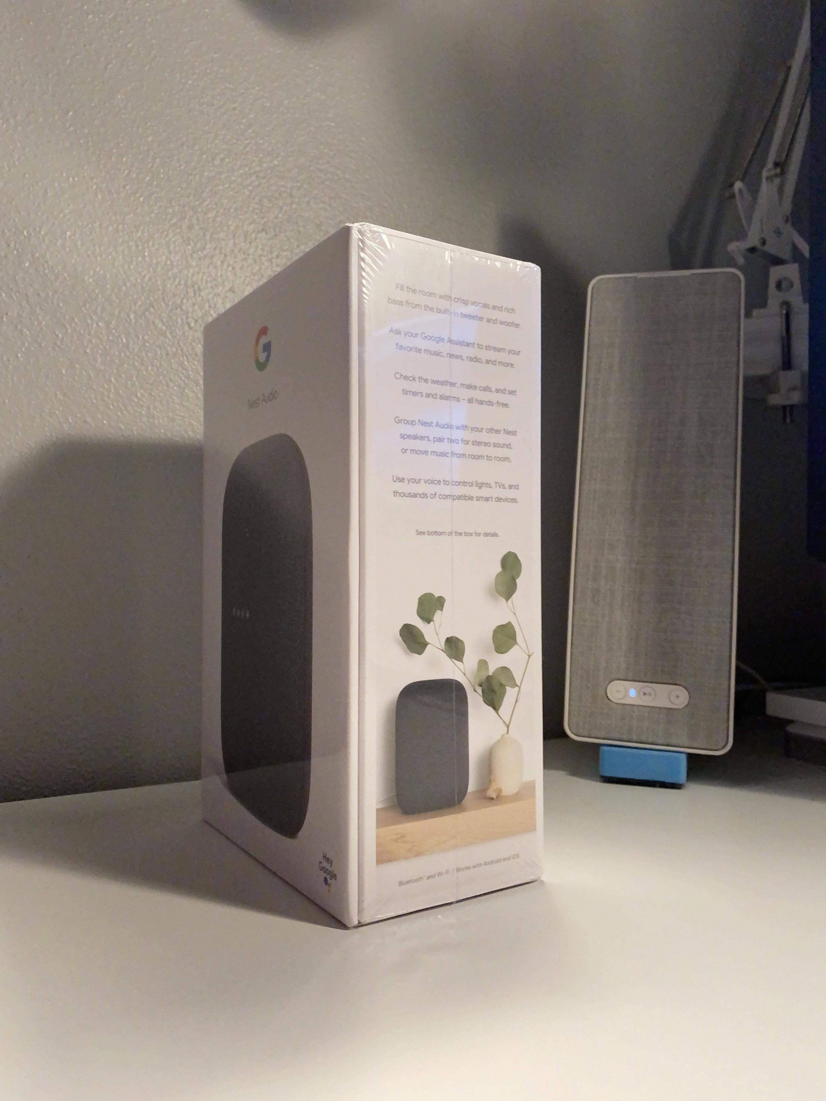 unoxbing głośnik Google Nest Audio cena kiedy premiera specyfikacja dane techniczne