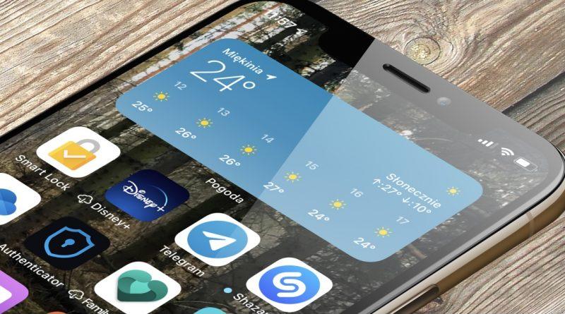 iOS 14 co nowego nowości aplikacja Pogoda Apple Dark Sky