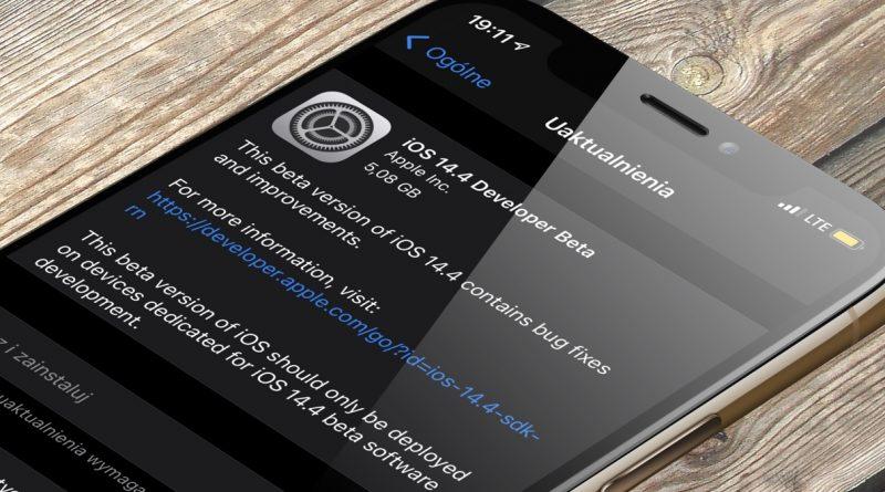 aktualizacja iOS 14.4 beta 1 Apple iPhone co nowego nowości zmiany