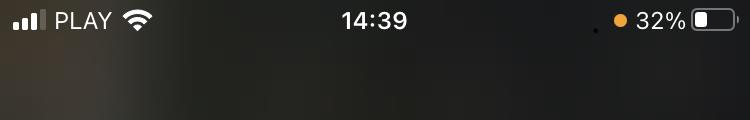 Co oznacza zielona kropka pomarańczowa kropka z iPhone na iOS 14 co to
