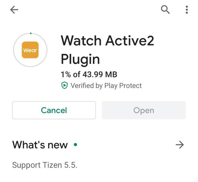 Plugin Samsung Galaxy Watch Active 2 aktualizacja Tizen 5.5 funkcje z Galaxy Watch 3