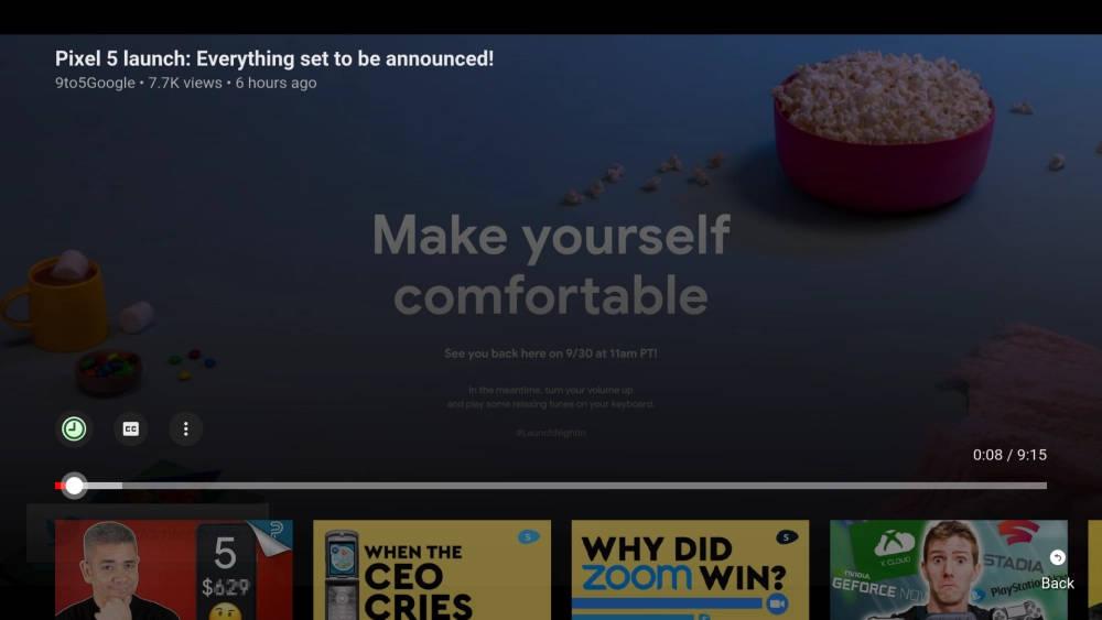 nowy odtwarzacz wideo YouTube dla Android TV Fire TV