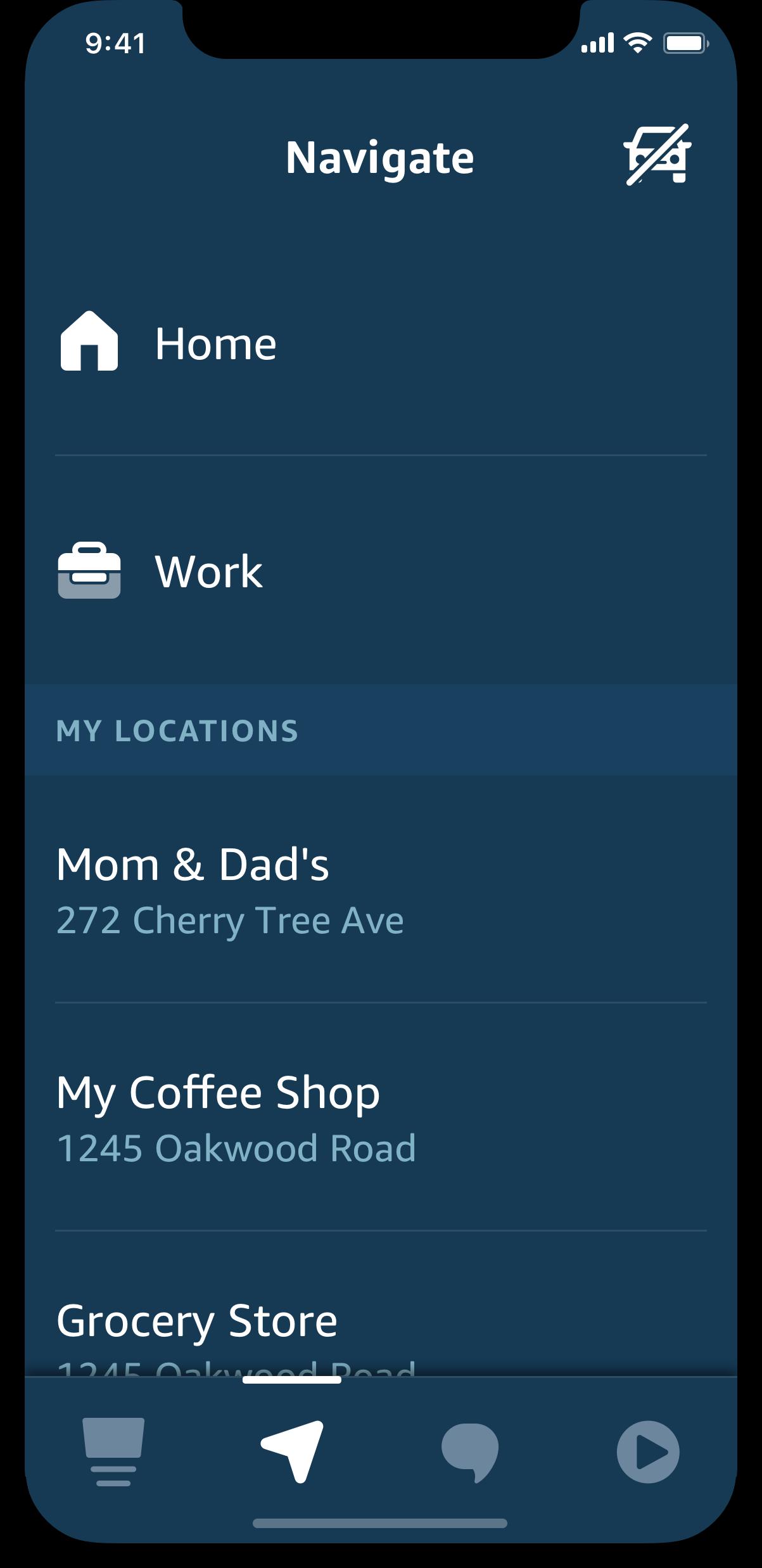 aplikacja Amazon Alexa tryb samochodowy