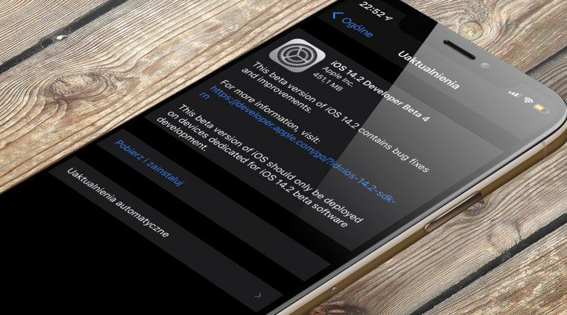 aktualizacja iOS 14.2 beta 4 co nowego nowości Apple iPhone