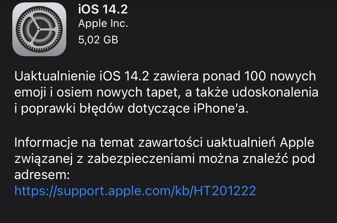 kiedy aktualizacja iOS 14.2 GM iPadOS 14.2 GM co nowego nowości wykaz zmian nowe emoji Apple iPhone 12 iPad opinie czy warto instalować problem bezprzewodowe ładowanie Qi