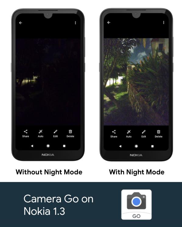 Aparat Go aplikacja Google z Android Go tryb nocny