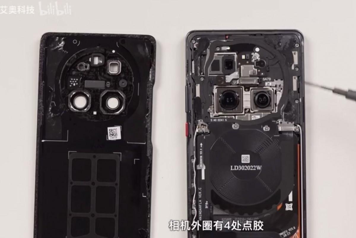 rozbiórka flagowiec Huawei Mate 40 Pro od środka