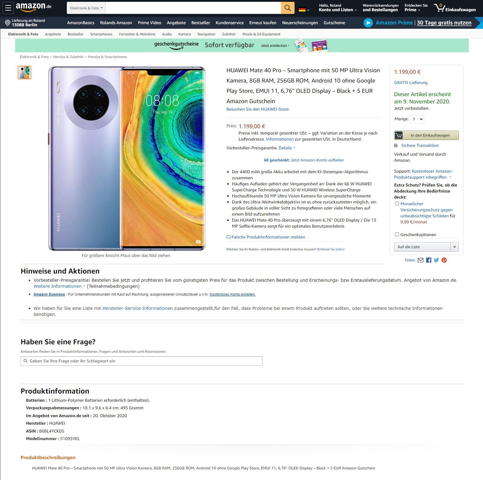 Huawei Mate 40 Pro cena plotki przecieki wycieki dane techniczne specyfikacja