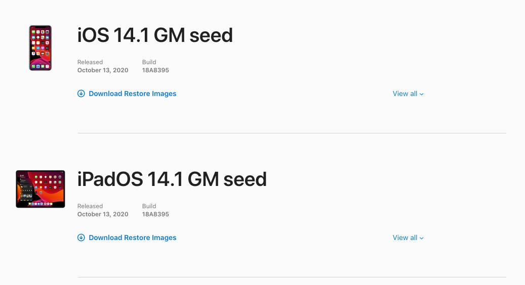 iOS 14.1 GM iPadOS 14.1 GM watchOS 7.1 aktualizacja Apple iPhone IPad co nowego nowości kiedy