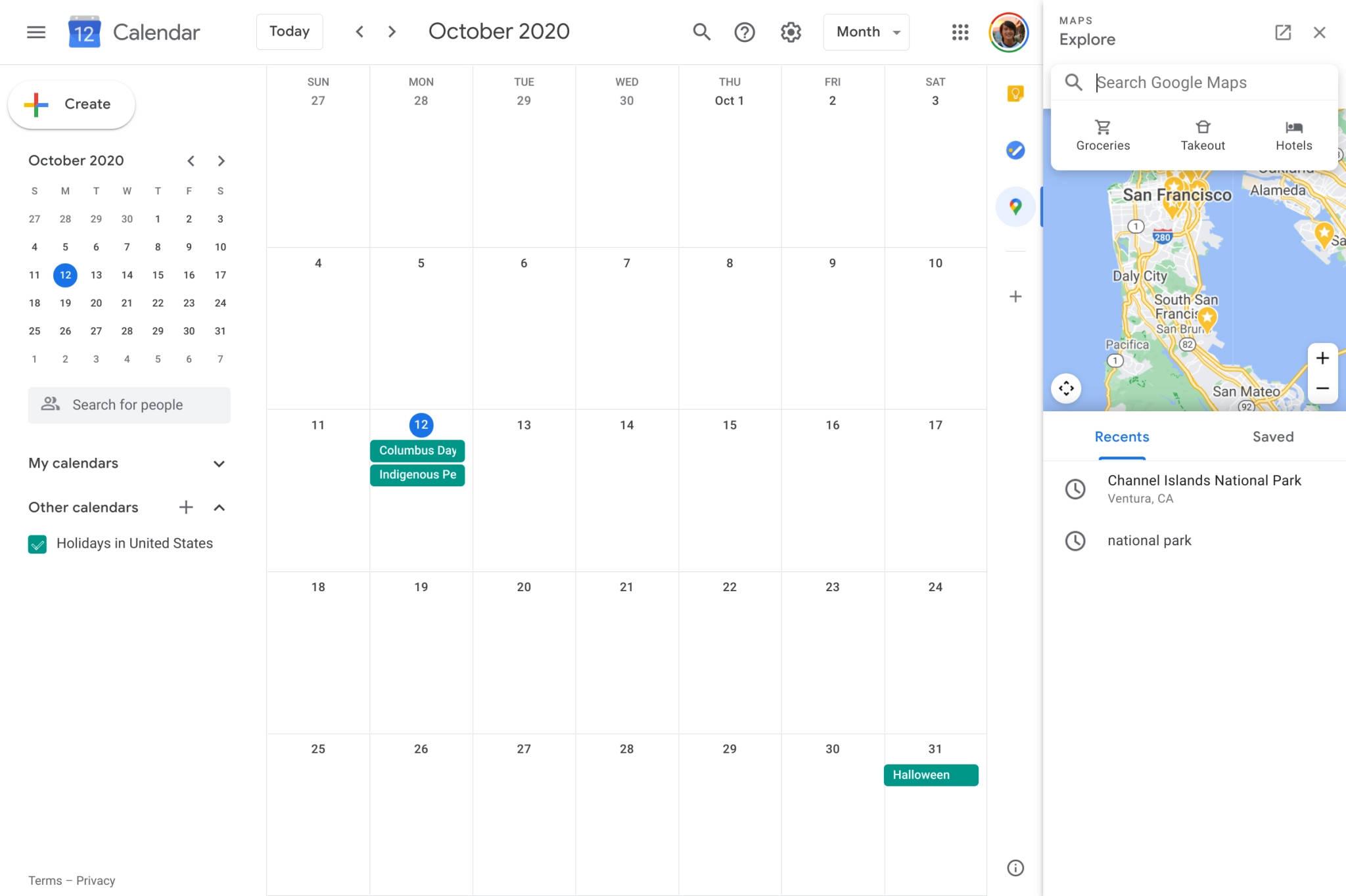 Kalendarz Google Maps rozszerzenie dodatek integracja