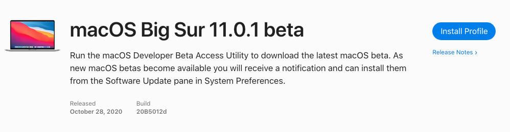 kiedy macOS Big Sur 11.0.1. beta Apple mac