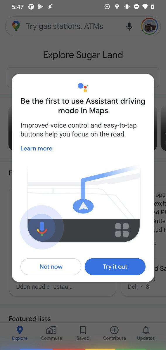 Asystent Google Maps 10.53.1 tryb samochodowy
