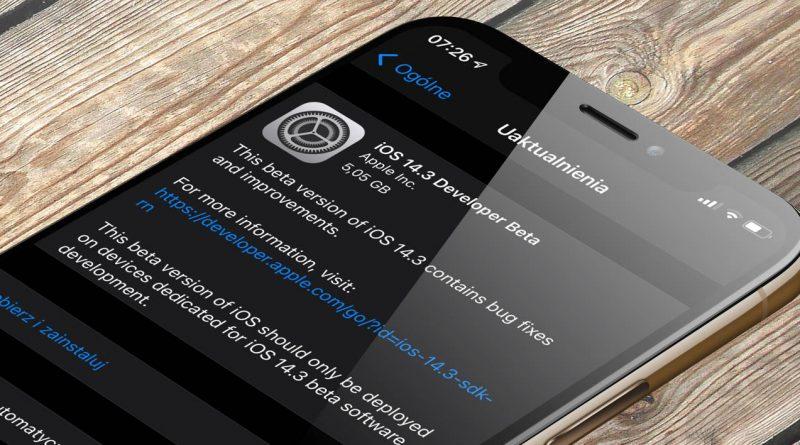 Apple aktulizacja iOS 14.3 beta 1 co nowego nowości wykaz zmian nowe funkcje kiedy iPhone watchOS 7.2