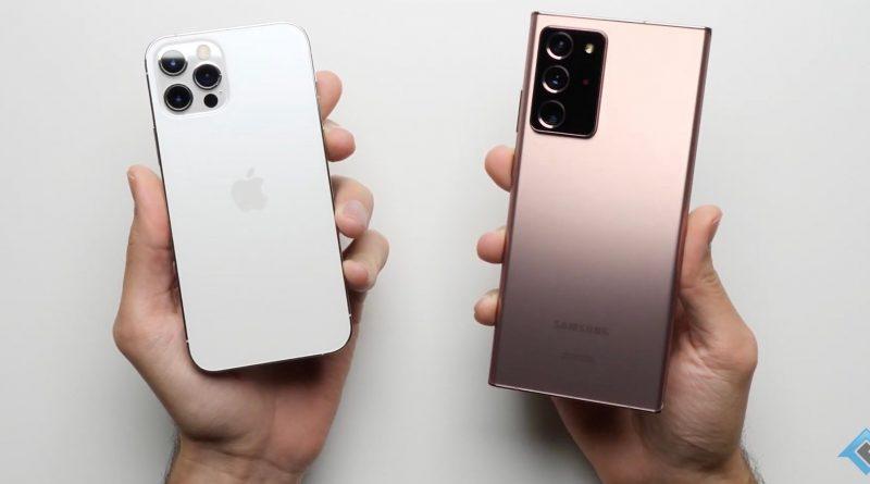 iPhone 12 Pro vs Samsung Galaxy Note 20 Ultra test prędkości aplikacji
