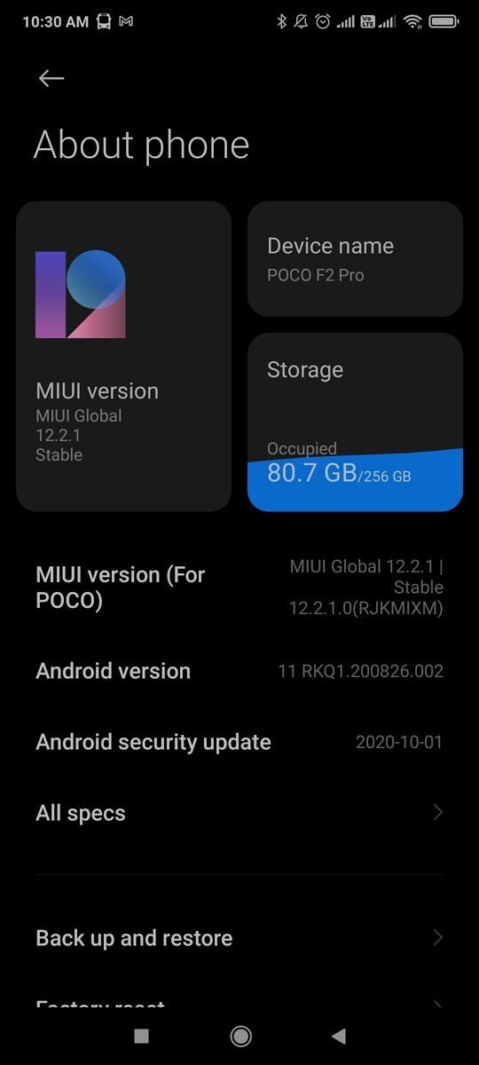 aktualizacja POCO F2 Pro Android 11 MIUI 12.2.1 opinie czy warto instalować