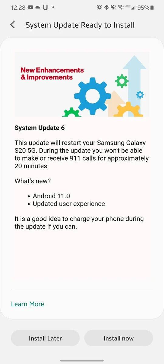 kiedy aktualizacja Android 11 One UI 3.0 Stable dla Samsung Galaxy S20 opinie czy warto instalować