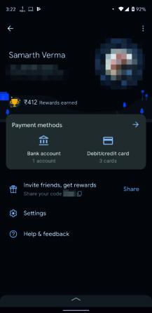 Google Pay beta dark mode