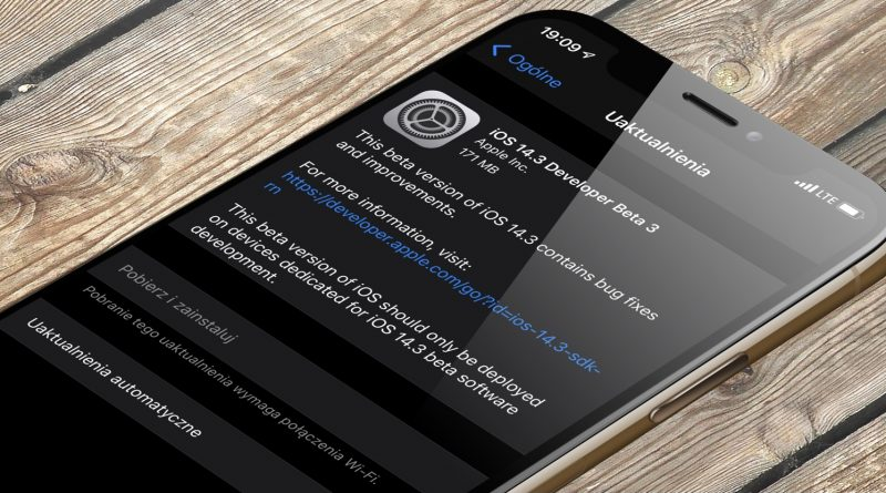 aktualizacja Apple kiedy iOS 14.3 betq 3 co nowego nowości iPhone