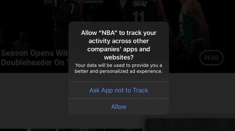iOS 14.4 beta monit śledzenie