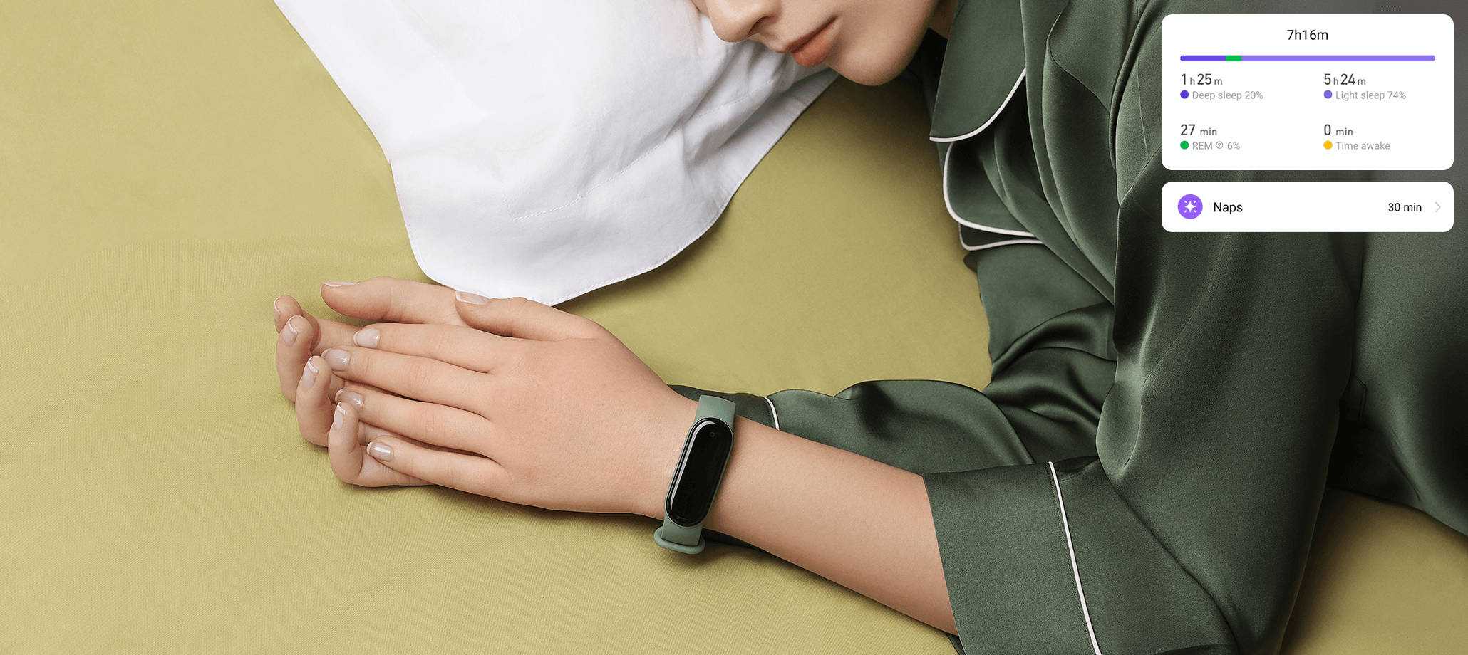 aktualizacja Mi Fit 4.8.0 dla Xiaomi Mi Band 5 monitorowanie snu