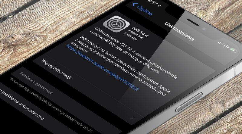 aktualizacja iOS 14.4 RC iPadOS 14.4 RC co nowego nowości Apple iPhone opinie czy warto instalować poprawki bezpieczeństwa