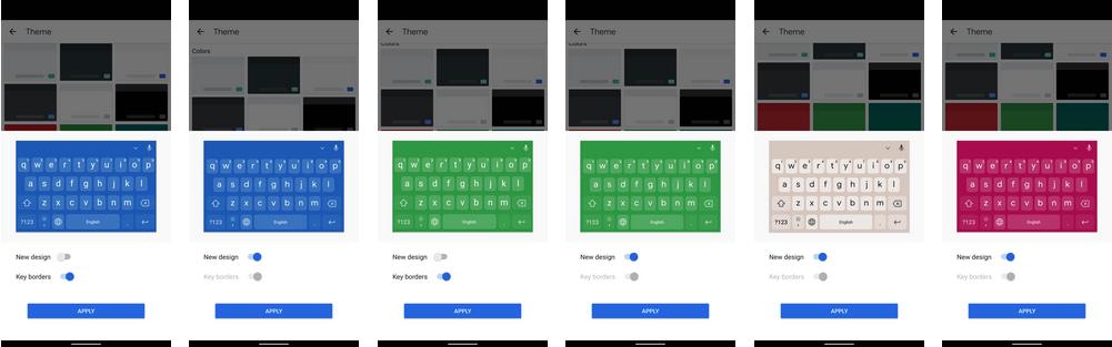 klawiatura Google Gboard 10.2 motywy aplikacje schowek screenshoty