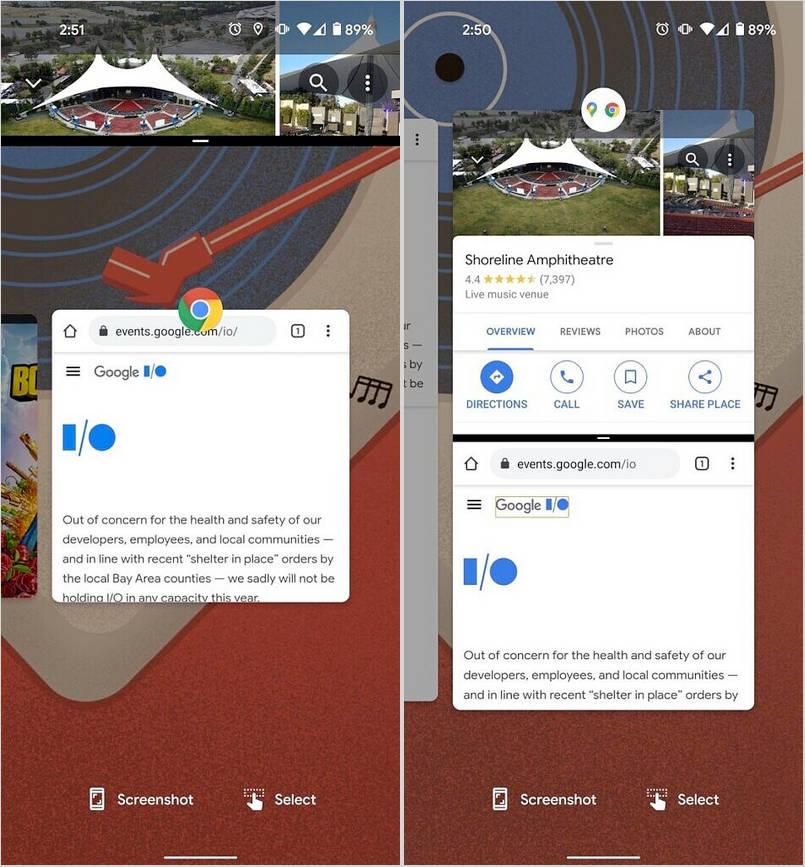 Android 12 podzielony ekran aplikacje pary